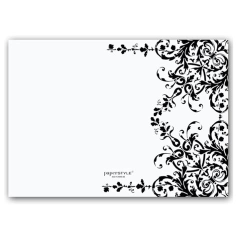 Black And White Blank Invitations Myefforts241116 Org Black And White Card Templates