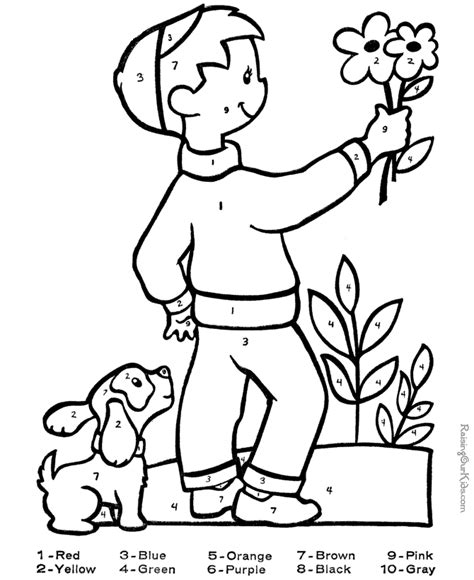 fun color by number coloring pages printable color by number coloring pages az coloring pages