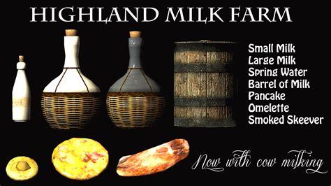 skyrim mod loverslab milk economy highland milk farm at skyrim nexus mods and community