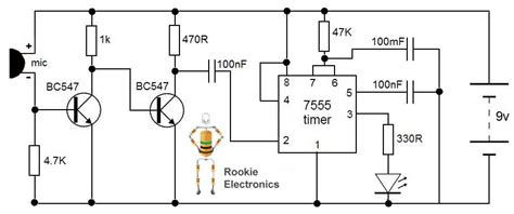 Circuit Diagram Of Clap Switch Using 555