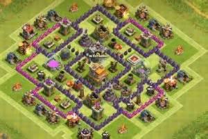Clash of clans coc best th7 war base anti dragon