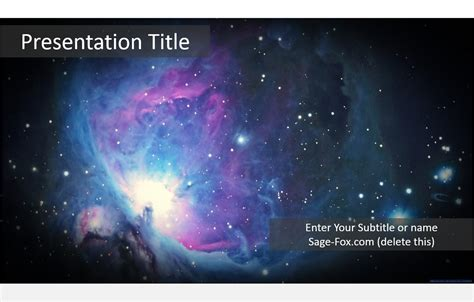 Space Powerpoint Template Best Business Template Space Ppt Template