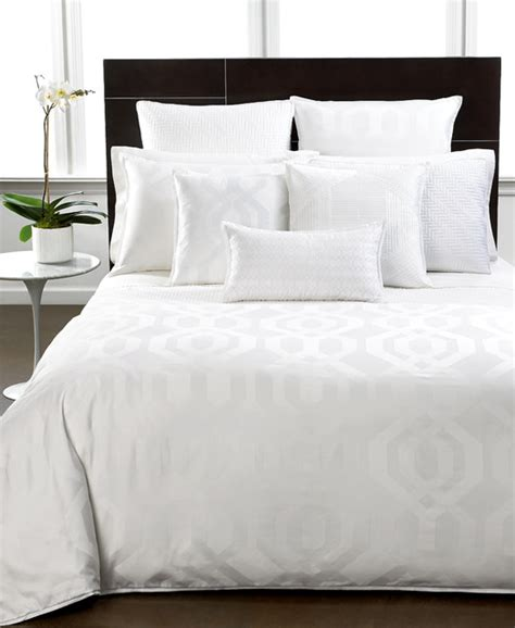 white hotel comforter hotel collection bedding modern hexagon white collection