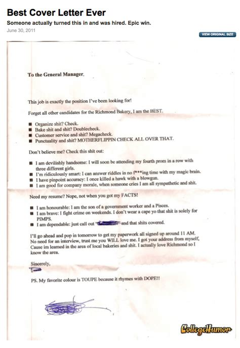 The Best Cover Letter I Ve Read by Best Cover Letter Creative