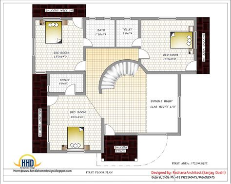 1st floor house plan india april 2012 kerala home design and floor plans