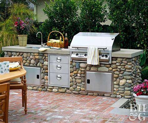 outdoor kitchen ideas  homes gardens