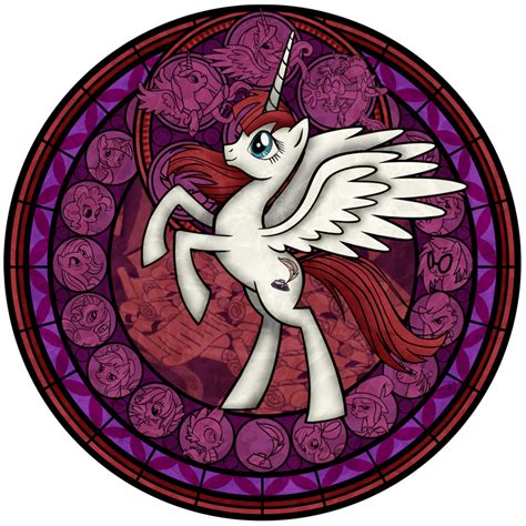 mlp nightmare moon stained glass stained glass fausticorn recolor by akili amethyst on