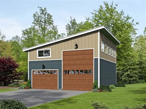 Rv Garage Plans With Apartment by 062g 0076 Modern Rv Garage Plan With Loft Garage Plans
