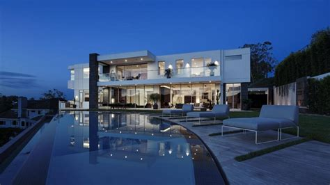 large modern home with lovely city views bel air los producer l a reid buys 18 million bel air home
