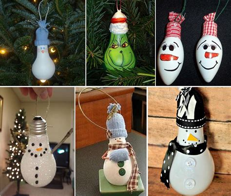 light bulb christmas ornaments christmas pinterest