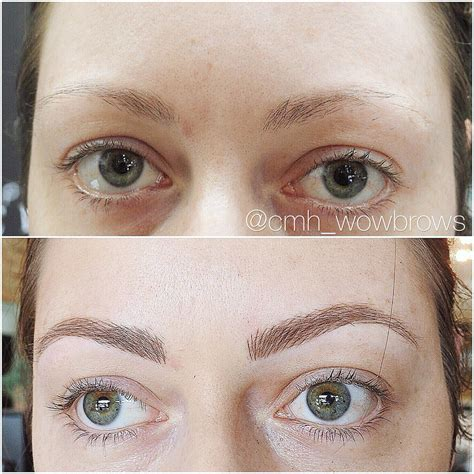 natural eyebrow tattoo hair stroke feather touch micro blading eyebrow