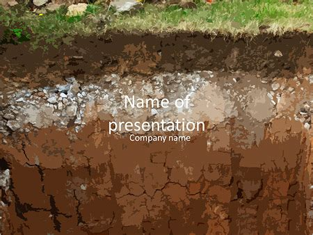 powerpoint themes soil underground soil layers powerpoint template backgrounds