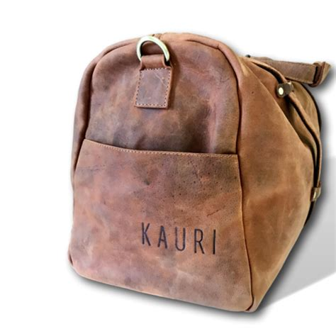Kauri Bag oversized leather 24 quot weekend travel duffel bag by kauri