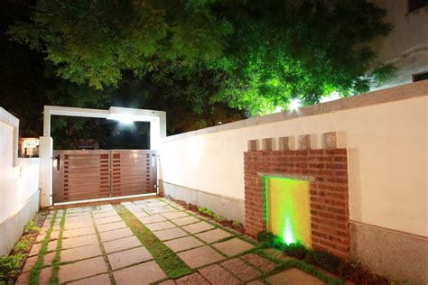 modern compound wall designs residential the passage house sait colony egmore chennai designed