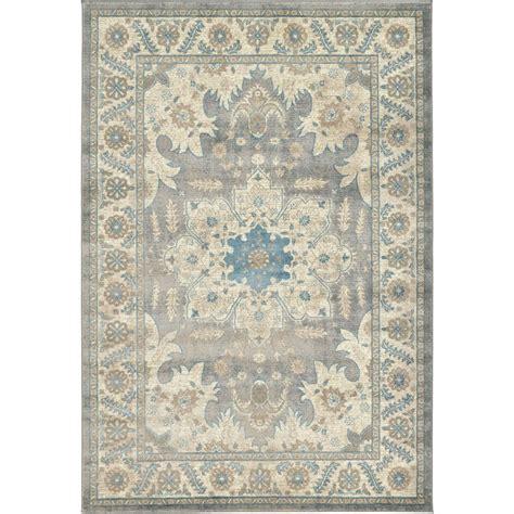 gray floral rug unique loom floral medallion salzburg gray 6 ft x 9 ft rug 3129115 the home depot