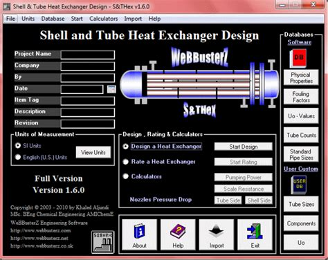 Autocad Free Online download shell and tube heat exchanger design 3 2 0
