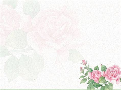 Powerpoint Background Rose Parksandrecgifs Com Powerpoint Flower Template