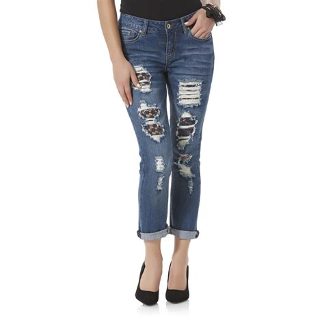 doll house jeans dollhouse junior s distressed skinny capri jeans