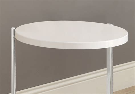 glossy white chrome metal accent table accent table glossy white chrome metal accent table