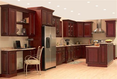 kitchen with cherry cabinets want to have the best look of your kitchen use the