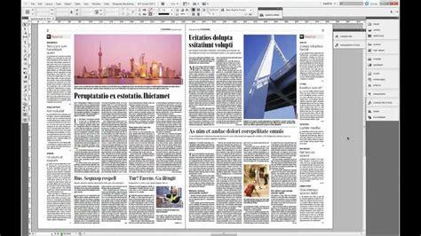 newspaper layout in indesign indesign cs 5 5 skład gazety setting newspaper youtube