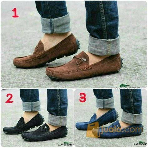 Sepatu Pria Lacoste Crocodile premium sepatu pria nyaman gaya kulit asli crocodile lacoste jlo 000176 bandung jualo