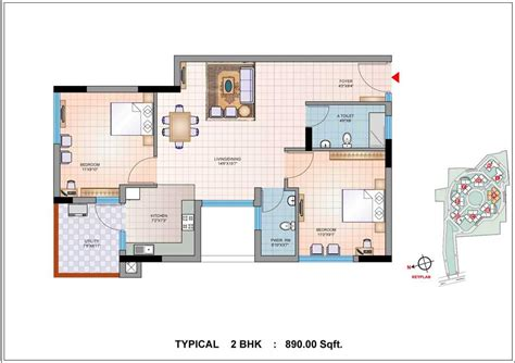 home plan com 2 bhk house plans home design and style