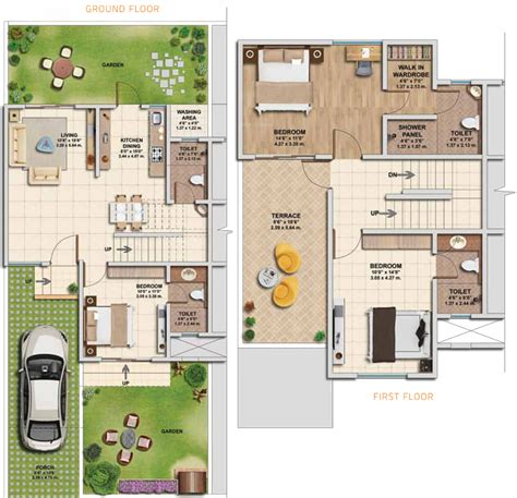 2 floor villa plan design kolte patil ivy villa in wagholi pune price location
