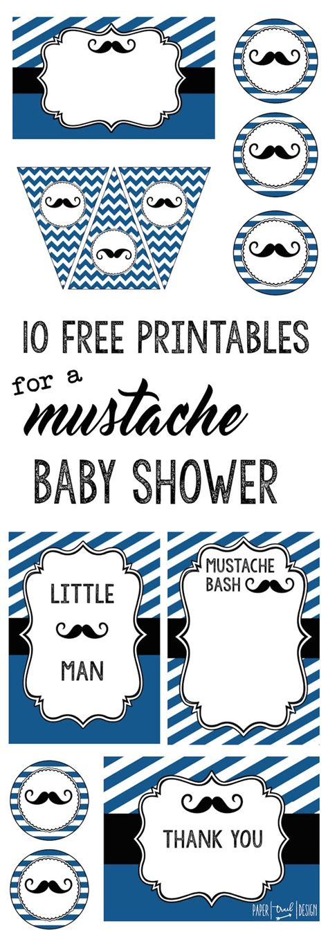 mustache template for baby shower mustache party 10 free printables mustache baby showers