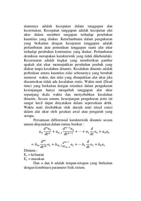 Termometer Praktikum laporan resmi praktikum karakteristik dinamik termometer