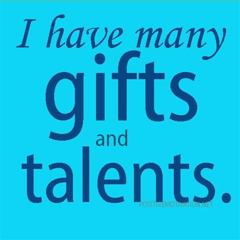 Of Many Talents Quotes