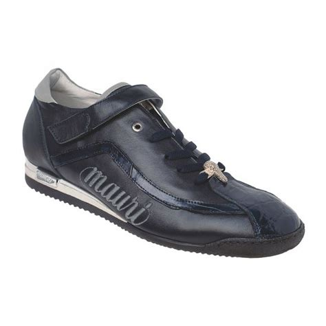 alligator sneakers mauri 8604 nappa alligator sneakers blue