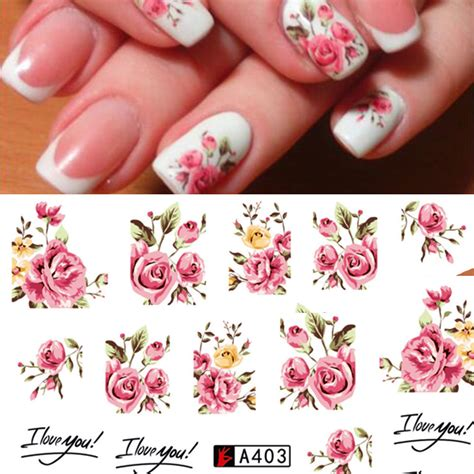 Nail Transfers by Nail Water Decals Stickers Transfers Rink Roses