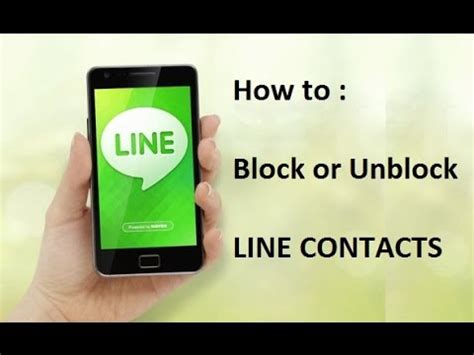 line app block how to block or unblock contacts numbers on line app