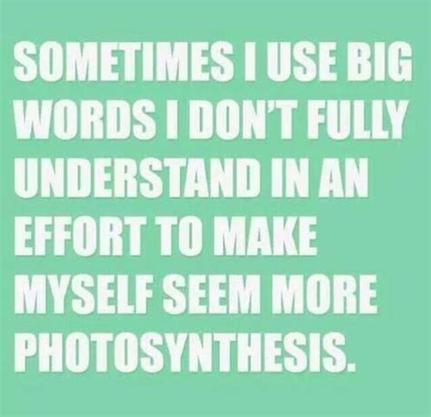Big Words Meme - sometimes i use big words i don t fully understand in an