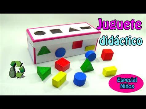 figuras geometricas hechas con material reciclable juguete did 225 ctico con figuras geom 233 tricas reciclaje