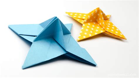 Paper Shuriken Origami - origami place card holder paper kawaii