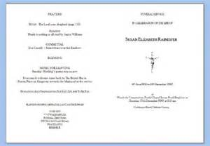 Make Your Own Funeral Program Funeral Service Sheets Funeral Service In Peacehaven Uk