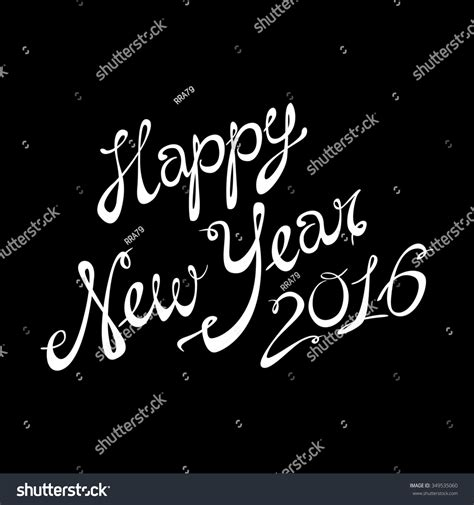 happy new year lettering greeting 2016 happy new year lettering greeting card design text