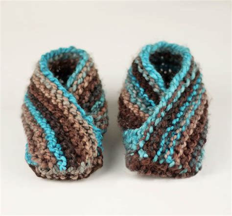 knitted slippers for toddlers easiest toddler slippers knitting pattern michele
