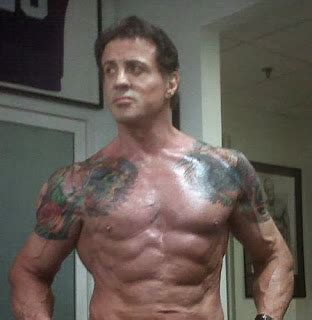 stallone tattoo tattooz designs sylvester stallone tattoos real