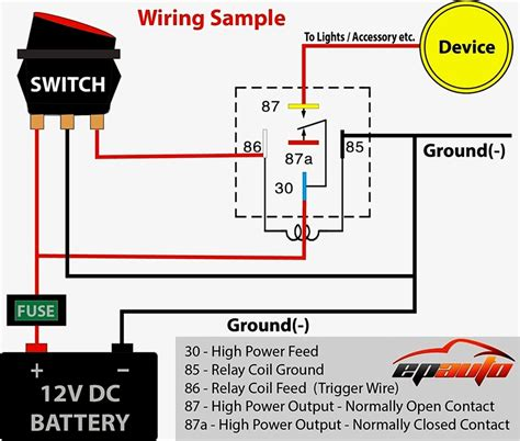 12 volt relay switch wiring diagram free picture wiring