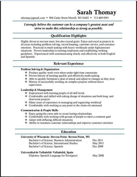 ideas you think and resume on