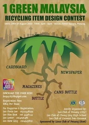 design contest in malaysia quot 1 green malaysia quot recycling items design contest leo
