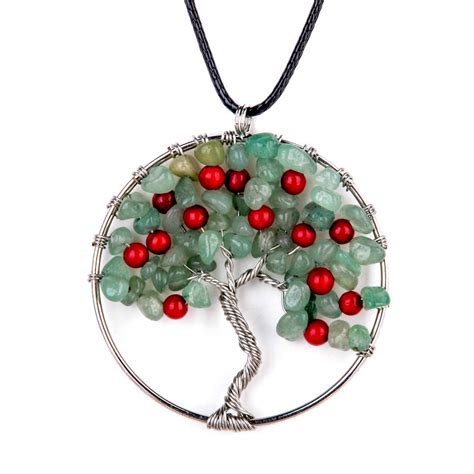 necklace craft wire wrap tree of chip pendant
