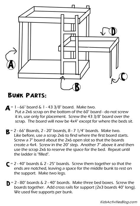 build  bed  plans  triple bunk beds