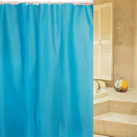 blue bathroom curtains simple and modern solid blue shower curtain