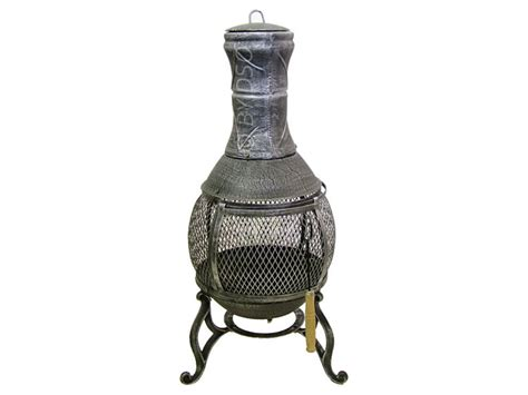 Cast Iron Chiminea Cast Iron Wood Heater Fireplace Chiminea Grey Bml19810