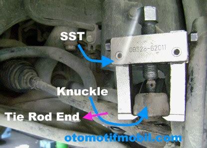 Karet Boot Vios alat dan cara melepas tie rod end dari knuckle roda