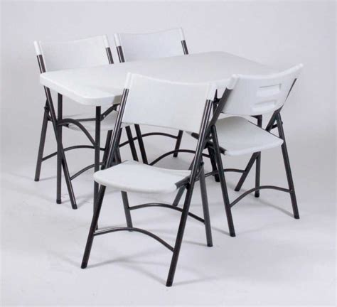 White Folding Table And Chairs with White Folding Tables Style And Design
